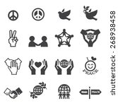 peace icons | Shutterstock .eps vector #268938458