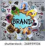 brand branding connection idea... | Shutterstock . vector #268959536