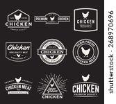 vector set of premium chicken... | Shutterstock .eps vector #268970696