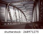 vintage heavy metal bridge... | Shutterstock . vector #268971275