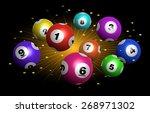 vector bingo   lottery number...