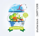 world health day concept.... | Shutterstock .eps vector #268971308