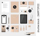 stationery template design with ...   Shutterstock .eps vector #268972922