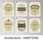 set of poster  flyer  brochure... | Shutterstock .eps vector #268972982