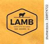 premium lamb label with grunge...   Shutterstock .eps vector #268974722