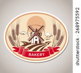 bakery label. vector... | Shutterstock .eps vector #268975592