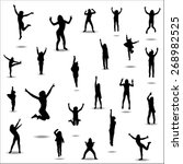 silhouettes for sports... | Shutterstock .eps vector #268982525