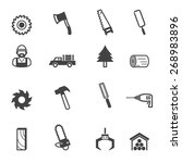 sawmill icons  mono vector... | Shutterstock .eps vector #268983896