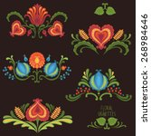 elements of traditional slavic... | Shutterstock .eps vector #268984646