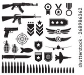 Weapons And Military Set. Sub...
