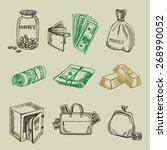 money icon sketch design. | Shutterstock .eps vector #268990052