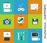 creative process icons set of... | Shutterstock .eps vector #268990892