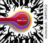 banner of happy people | Shutterstock .eps vector #268992212