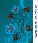 abstract floral background for... | Shutterstock .eps vector #26899552