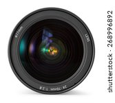 camera photo lens over white... | Shutterstock . vector #268996892