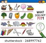 Stock vector cartoon vector illustration of finding improper item educational game for preschool children 268997762