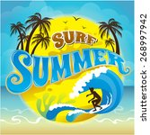 vector logo summer holiday and... | Shutterstock .eps vector #268997942