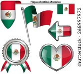 vector glossy icons of flag of... | Shutterstock .eps vector #268997972