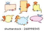 Colorful Speech Bubble Set Wit...
