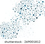 network  polygonal background... | Shutterstock .eps vector #269001812
