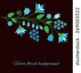 floral background. vector... | Shutterstock .eps vector #269003522
