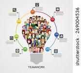 teamwork infographics... | Shutterstock .eps vector #269004536