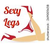sexy legs with panties | Shutterstock .eps vector #269005658