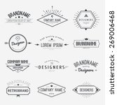 Stock vector vintage logo set retro design elements business signs template logos identity labels badges 269006468