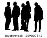 big crowds people on white... | Shutterstock .eps vector #269007542