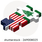 vector image   usa and norfolk... | Shutterstock .eps vector #269008025