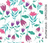 seamless pattern with flowers.... | Shutterstock .eps vector #269012036