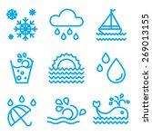 water icon set vector | Shutterstock .eps vector #269013155