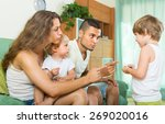 Постер, плакат: Young parents scolding little
