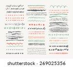 hand drawn vector line borders... | Shutterstock .eps vector #269025356