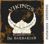 vikings logo t shirt graphic... | Shutterstock .eps vector #269035442