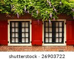 Shutters And Wisteria