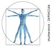 vitruvian human or man as a...   Shutterstock . vector #269041166