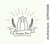 beer brewery vector icon  logo. | Shutterstock .eps vector #269043068