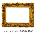 Vintage Gold Frame  Isolated O...