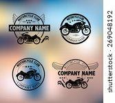vector motorcycle club logo... | Shutterstock .eps vector #269048192