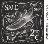 banana vector logo design... | Shutterstock .eps vector #269077478