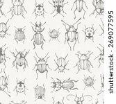seamless monochrome pattern... | Shutterstock .eps vector #269077595