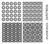 set of black and white simple... | Shutterstock .eps vector #269078036
