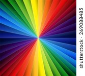 rainbow colorful folded paper...   Shutterstock . vector #269088485