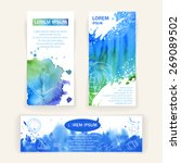 set of cards and a banner with... | Shutterstock .eps vector #269089502