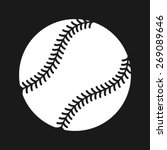 simple baseball with stitches...