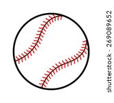 baseball vector icon | Shutterstock .eps vector #269089652