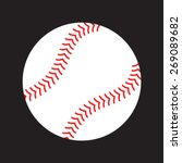 simple baseball with red... | Shutterstock .eps vector #269089682
