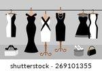 Woman Wardrobe Accessories Set. ...