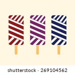 vector ice cream illustrations | Shutterstock .eps vector #269104562